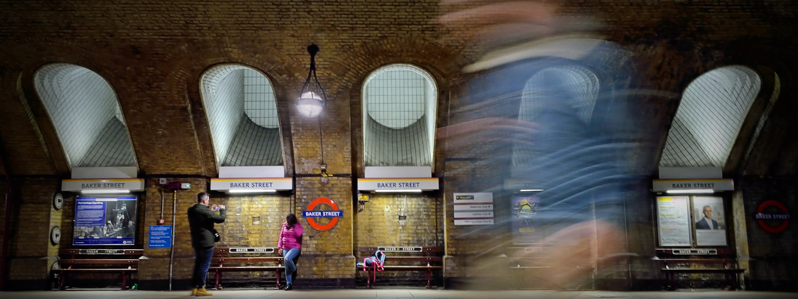 """Ghost Of Baker Street Station"", Baker Street Underground Station, London, UK"