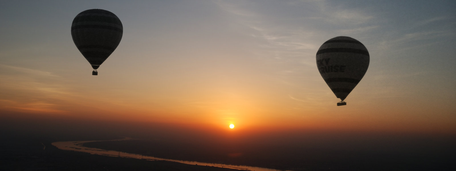 Dawn Hot Air Balloon Ride, Valley of the Kings, Luxor, Egypt