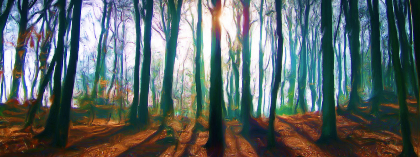 Marlow Common Wood (Seurat Painting Style), Marlow, UK