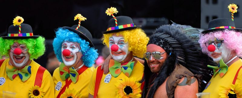 """No One Told Me it Was a Clown Party"", Rewind Festival, Henley-on-Thames, UK"